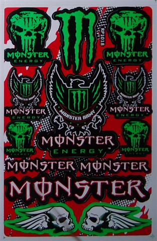Monster Army Logo Red